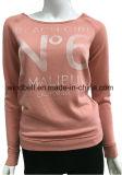 Модный связанный пуловер свитера для женщин с резиновый печатью