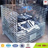 Gaiolas dobráveis industriais do armazenamento da gaiola/metal do fio