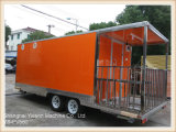 Ys-Fv580 5.8m Orange Large Fast Food Car Fast Food Caravan