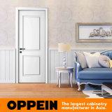 Singel Oppein белым лаком Двери деревянные двери с плоским экраном (MSPD74)