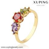 11572 Form-Frauenüberzog bunter der Zircon-Schmucksache-Finger-Ring im Gold 18k