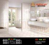 6D de la pared de inyección de tinta de cuarto de baño baldosas de cerámica de cocina para la decoración del hogar
