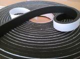8mm schwarze Farbe einseitiges Belüftung-Schaumgummi-Band