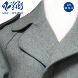 灰色カラー方法長袖の新式の小型のコートを回しなさい