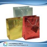 쇼핑 선물 옷 (XC-bgg-028)를 위한 인쇄된 종이 포장 운반대 부대