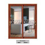 Внутренне алюминиевая двойная Toughened стеклянная раздвижная дверь