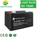 LEDライトのための密封された再充電可能な鉛の酸3FM10 6V 10ah 20hr電池