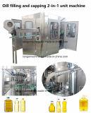 Automatische Edile-Olivenöl-Haustier-Flasche 200ml 1000ml 2000ml  Füllende mit einer Kappe bedeckende Erdnussöl-Sonnenblumenöl-Soyabohne-Flaschenabfüllmaschine-Pflanze des Geräten-2 in-1