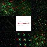 Estrella de la noche de láser de Navidad rojo / luz verde luz de la ducha con 8 patrones
