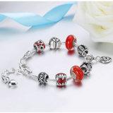 Pendente del cuore di amore dell'annata con i braccialetti rossi & i braccialetti dei branelli di vetro di Murano per i monili delle donne