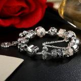Antike-ich liebe dich Inner-rosafarbene Blumen-Sicherheitskette-Charme-Armband-u. Armband-Schmucksachen