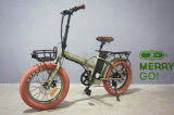 2017 ultima e bici piegante aggiornata del pneumatico grasso elettrico di 48V 500W