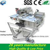 Bolsos de alimentação automáticos Máquina de costura automática industrial de bolso