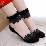 Frauen-Sommer-Abnützung-transparente Spitze-Socken