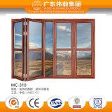 Buena puerta garantizada calidad superventas del aluminio/del aluminio/de Aluminio de plegamiento del feedback