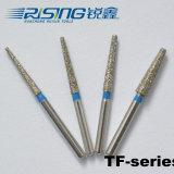 TF (테이퍼 편평한 끝) 시리즈 고속 고품질 다이아몬드 burs