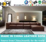 Софа кожи комнаты домашней мебели живущий (HC3007)