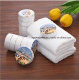 100%年綿の圧縮されたタオル、魔法タオル、ギフトタオル、販売促進タオルの