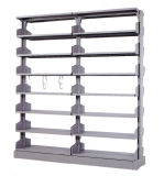 Puder-Beschichtung-Stahlmetallzahnstangen-Archivierungs-Metallschrank (HX-ST137)