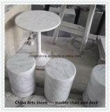 ホームおよび喫茶店棒のための石造りの大理石の椅子および机の家具