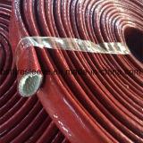 Chemise enduite de protection contre la chaleur d'isolation d'échappement de fibres de verre de Silico