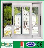 Finestra di vetro di alluminio della finestra di scivolamento del blocco per grafici doppia