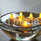 Свечка воды СИД воды активно плавая освещает желтый цвет свечки декора непламенный