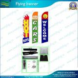 Hot vendeur pôle en fibre de verre, de la bannière de plumes de vol d'un drapeau (J-NF04F06009)