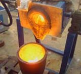 25квт Yuelon индукционного нагрева небольших металлических плавильная печь с видео