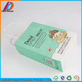 Guangzhou mayorista fabricante de papel kraft blanco Bolsa de compras con mango de la cadena de papel