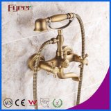 Fyeer Antique Bronze Phone Bath Shower Mixer Faucet for Wall Mounted