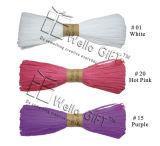 다채로운 포장지 라피아 야자 뭉치