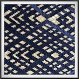 調子への幾何学的な網の刺繍のレースファブリック調子