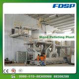 Caldera de paja de la aplicación de la línea de pélets de polvo de madera
