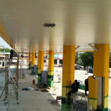 Multicolor алюминиевая архитектурноакустическая панель для фасада бензоколонки