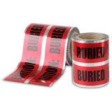 고품질 빨강에 의하여 착색되는 지하 탐지가능한 경고 테이프