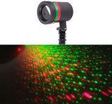Laser projetado diodo emissor de luz ao ar livre movente do Natal do jardim da decoração da paisagem