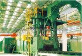 Placa de acero de la serie Q69 y la sección de la máquina de granallado