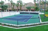 Un'unità di elaborazione elastica di due strati mette in mostra la corte (corte di tennis)