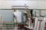 Máquina de etiquetas bilateral da etiqueta da parte dianteira e da parte traseira para o frasco de petróleo do cabelo do frasco do champô