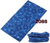 파란 밝은 파란색 잎 디자인 밴대나