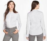 여자의 벨 소매 줄무늬 셔츠