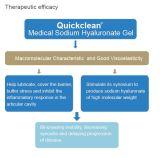 Ce и сертифицированных ISO ортопедической гиалуроновой кислоты для медицинского использования