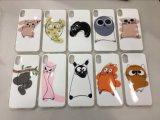 Sostenedor lindo de la cubierta del caso del animal TPU protector para el iPhone X