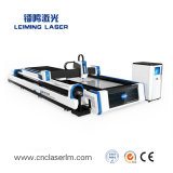 Cortador do laser da fibra das placas e das tubulações de metal com tabela Lm3015am3 da troca