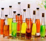 Langer Stutzen-weiße runde Glaseis-Wein-Flasche