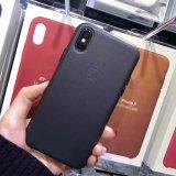 Metal original de alta qualidade em pele Insirá PU Caso Telefone celular para iPhone