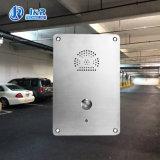 Для встраиваемого монтажа помочь телефон SIP Автостоянка внутренней безопасности телефон с корпусом из нержавеющей стали