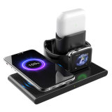 Draadloze oplader, Qi-gecertificeerde 15W 3in 1 snelle oplader voor mobiele telefoons, voor iPhone 12 11, Samsung Galaxy Note Watch 1/2/3/4, Airpods