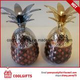 Mini 2.5oz ananas plaqué cuivre Galss Mug Shot